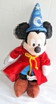 "Disney Sorcerer Mickey Mouse Wizard Stuffed Doll Theme Park Plush 13"" Tall - $6.93"