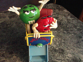 2002 M&M's Wild Thing Roller Coaster Dispenser Candy Blue with Red and G... - $13.99
