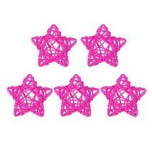 (07)5pcs 6cm Lovely Rattan Star Ball DIY Hanging Ornaments Xmas Birthday... - $14.00