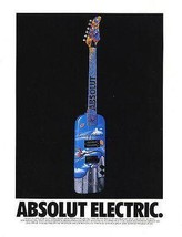 Absolute Electric Guitar Country Of Sweden Rick Garcia 1992 Absolut Vodk... - $14.99