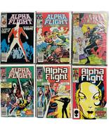 Alpha Flight Comic Lot of 6 - (1984, Marvel) #'s 11,15,16,17,18,20 Key - $24.74