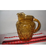 Vintage Water Pitcher with Honeycomb Design - $30.00