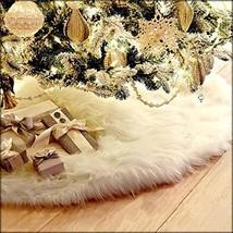 Funkprofi Christmas Tree Skirts Plush Faux Fur Handmade Soft Luxury Tree... - $22.45