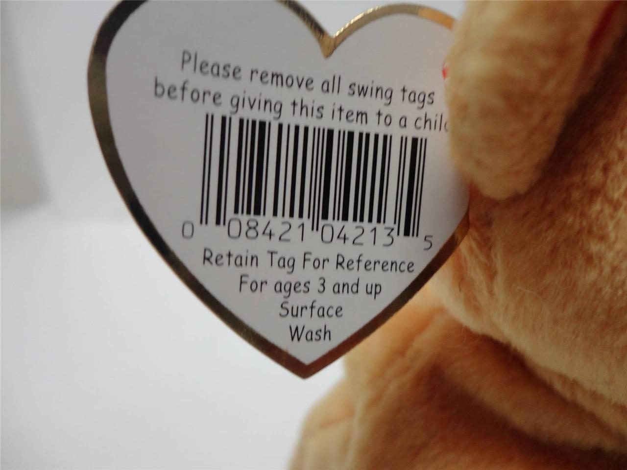 TY Beanie Baby Hope Bear 1998 with Tags