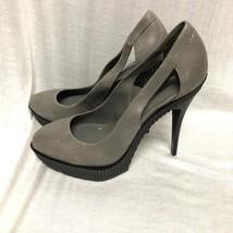 BCBG MAXAZRIA SHOES 'harlow' Platform Heel gray Leather Size: 9 / 39 - $23.36
