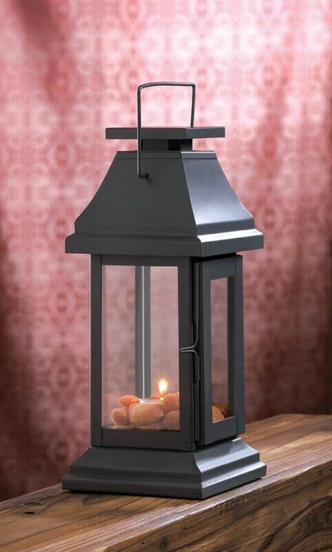 Asian Pagoda Gray Candle Lantern