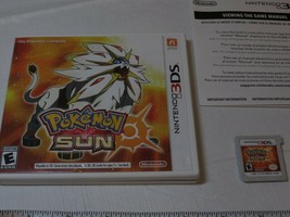 Pokemon Sun Nintendo 3DS 2016 Caja Juego Game Boy Pokemon Esrb 2D Raro Everyone - $31.99