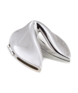 Bey-Berk Silver Plated Chinese Fortune Cookie with Hinge Storage Case - $22.00