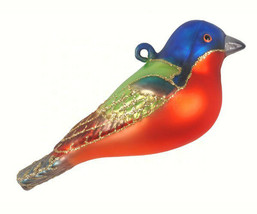 Painted Bunting Bird Christmas Ornament - $14.95