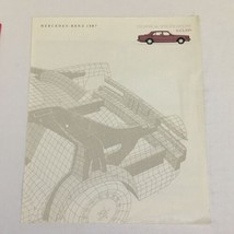 1987 Mercedes-Benz S-Class Specifications Dealership Car Auto Brochure Catalog - $17.77