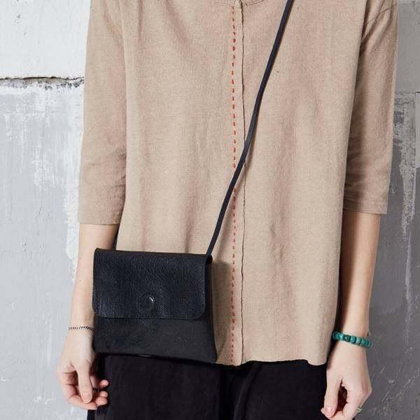 On Sale, Handmade Crossbody Bag, Full Grain Leather Shoulder Bag, Women Clutch image 3
