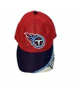 Tennessee Titans Vtg Game Day Red Blue Mesh Adjustable Baseball Hat Ball... - $21.49