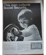 Vintage This Man Collects Social Security Baby Print Magazine Advertisem... - $12.99