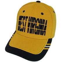 West Virginia Window Shade Font Men's Adjustable Baseball Cap (Gold/Navy) - €11,95 EUR