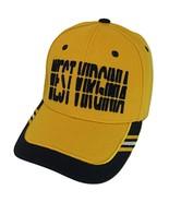 West Virginia Window Shade Font Men's Adjustable Baseball Cap (Gold/Navy) - $12.95