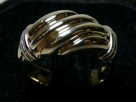 14K Yellow Gold Shrimp Dome Ring Sz 4.75 Ladies Gorgeous 5.5g  Mark Beautiful - $299.99