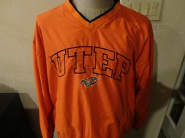 Sewn UTEP Miners Polyester NCAA V Neck Jacket Adult L Nice College University  - $34.90