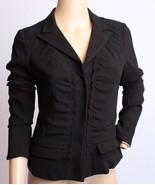 PRADA Italy Black Silk Crepe Career Blazer Jacket S - $189.99