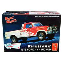 Skill 2 Model Kit 1978 Ford 4x4 Pickup Truck Firestone Super Stones 1/25... - $44.84