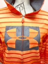 Under Armour Hoodie Sweatshirt Orange Stripe Youth Large image 4