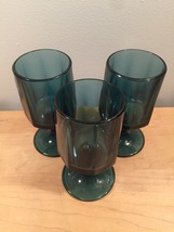 Denim blue goblets set of 3 made by Colony/Indiana Glass in the Nouveau pattern image 4