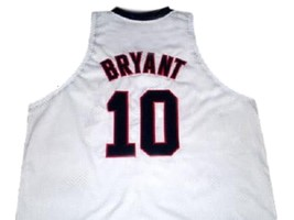 Kobe Bryant #10 Team USA New Men Basketball Jersey White Any Size image 5