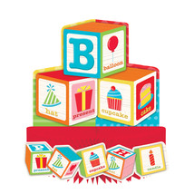 "ABC Birthday 10"" x 9"" Honeycomb Centerpiece, Case of 6 - £31.82 GBP"