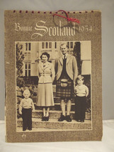 Vintage Bonnie Scotland Calendar 1954 The Royal Family Complete Queen Ch... - $27.67