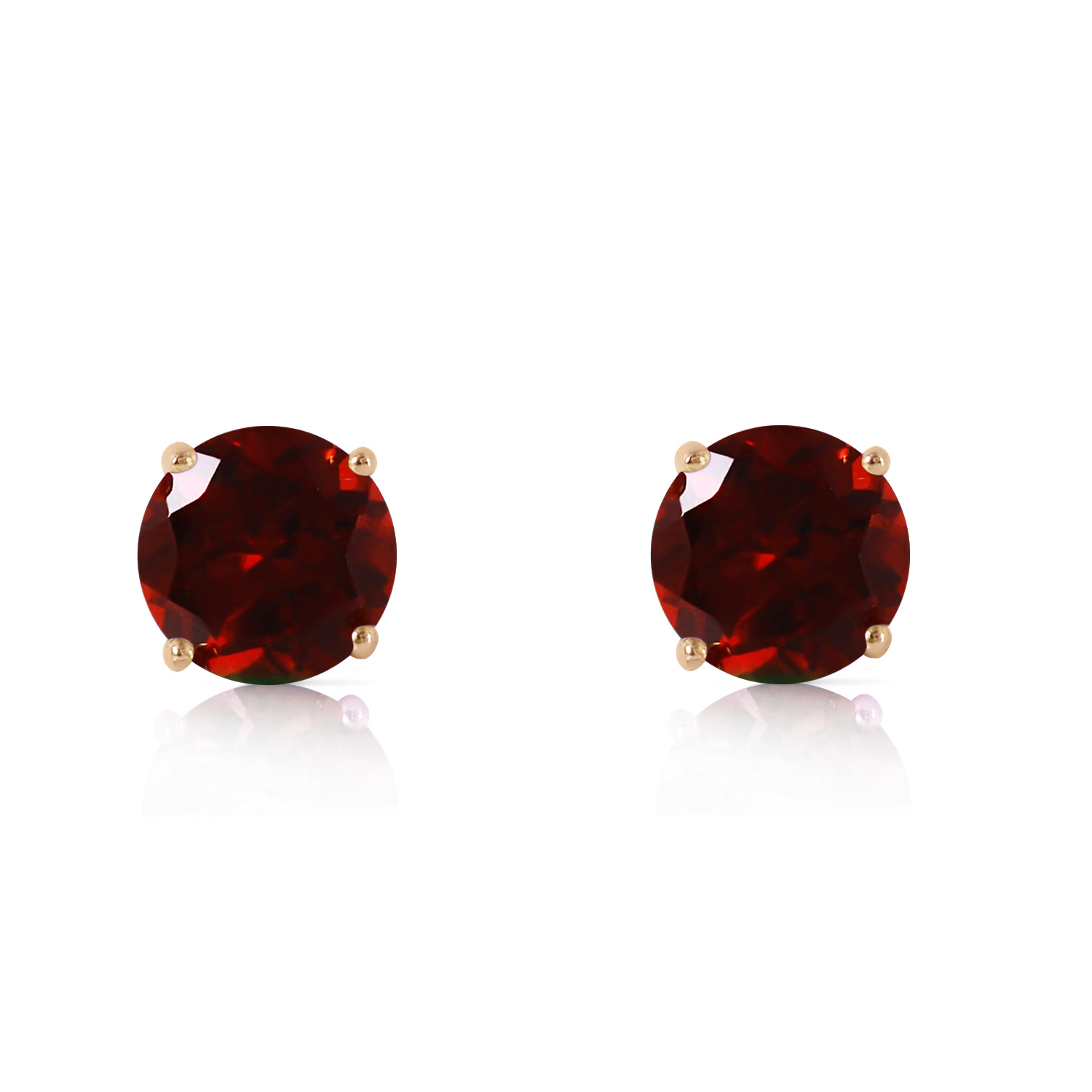 Primary image for 0.95 CTW 14K Solid Rose Gold Petite Garnet Stud Earrings
