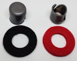 2~PC BATTERY POST LEAD SHIM CAP WITH POST WASHER FELT RINGS - $12.89