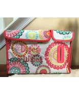 Thirty One Pink Design Mid-sized Diaper Bag Dipes & Wipes embroidery - $14.84