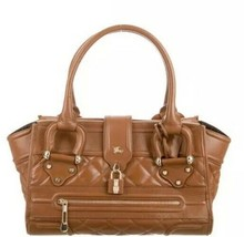 Burberry Quilted Manor Large Tote Bag in Tan - $330.00