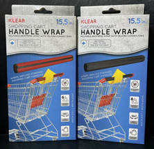 "2 Klear Shopping Cart Handle Wraps Reusable Neoprene Universal Size 15.5"" - $14.75"