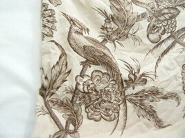 Pottery Barn Bird Floral Taupe Cream Reversible 24-inch Square Pillow Cover - $49.00