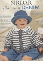 Babies in Denim, Sirdar Baby Clothes Knitting Pattern Booklet 266 - $4.95
