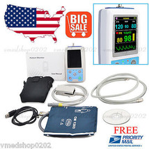 CE FDA Portable Handheld Patient Monitor 24h NIBP SpO2 Pulse Rate+Softwa... - $197.01
