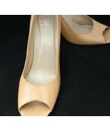 Stuart Weitzman Pumps Open Toe Beige Leather Heels Size 9.5N - $27.80