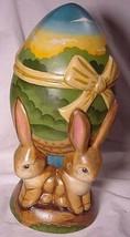 Vaillancourt Folk Art 4 Bunnies Easter Egg Center Piece For Table image 2