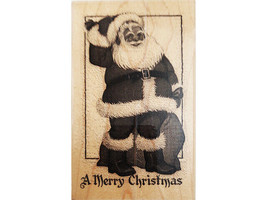 Paper Inspirations Jolly Santa Wood Mounted Rubber Stamp image 1