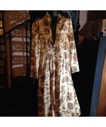 J Peterman Beige Silk Vintage Style Punjab Style Pants Suit - $183.15