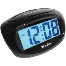 Westclox 70043X Large Easy-to-Read LCD Battery Alarm Clock - $24.49