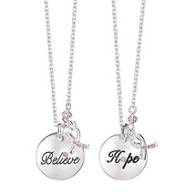 Avon Hope Ribbon Charm Necklace - $17.00