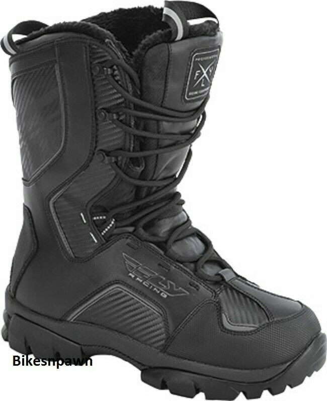 New Mens FLY Racing Marker Black Size 11 Snowmobile Winter Snow Boots -40 F