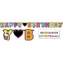 Hello Kitty 'Neon Tween' Jumbo Letter Birthday Banner (1ct) - $8.16