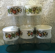 Set of Five PYREX  See N Save Spice O' Life Spice Jars // Kitchen Storage - $20.00