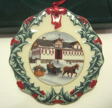 Longaberger Collector's Club Christmas Ornament 1999 Riding Through The Snow - $17.99