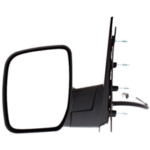 Fits 09-14 Ford E-Series Left Driver Power Mirror Textured Black W/Singl... - $55.39