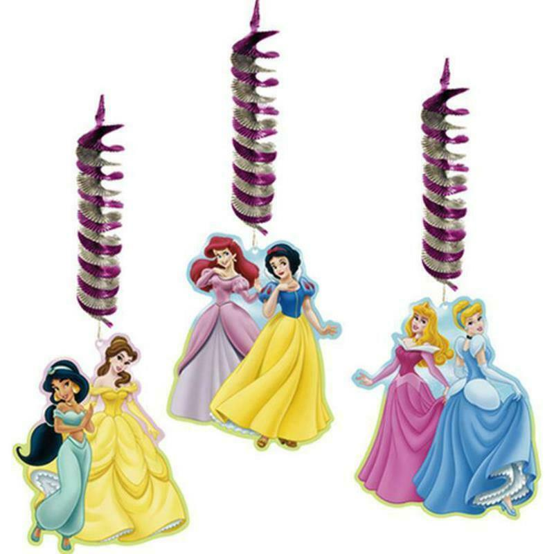Disney Fairytale Princess Hanging Decorations 3 Pc Dangler Birthday Party Supply
