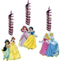 Disney Fairytale Princess Hanging Decorations 3 Pc Dangler Birthday Part... - $5.89