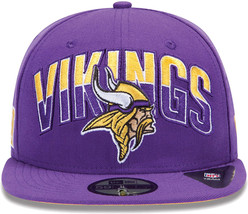 New Era Minnesota Vikings Draft 2013 Flip Under Visor 59Fifty Fitted Cap... - $32.00